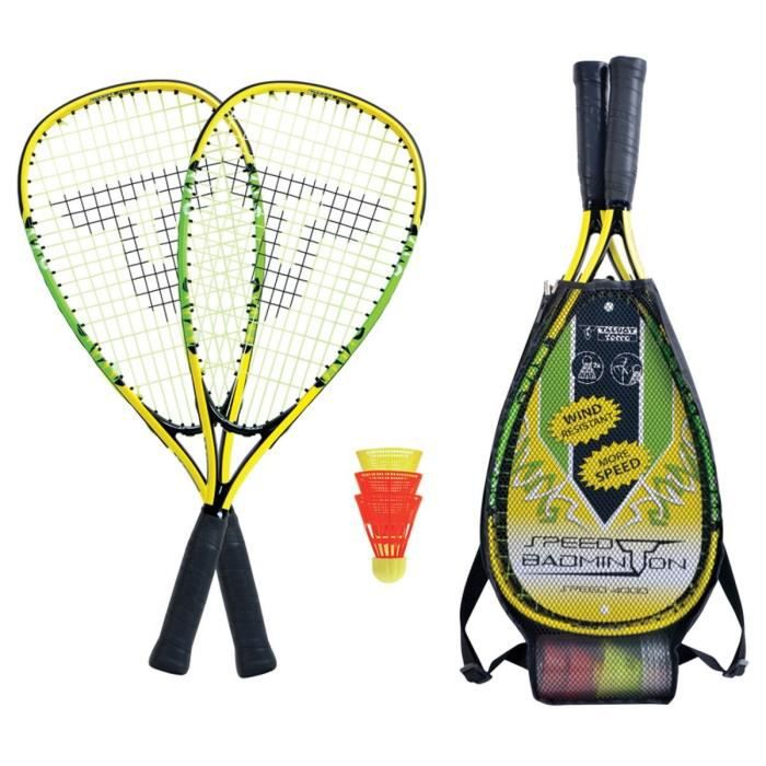 TALBOT TORRO Set de Badminton Speed 4000 - 2 raquettes - 3 volants