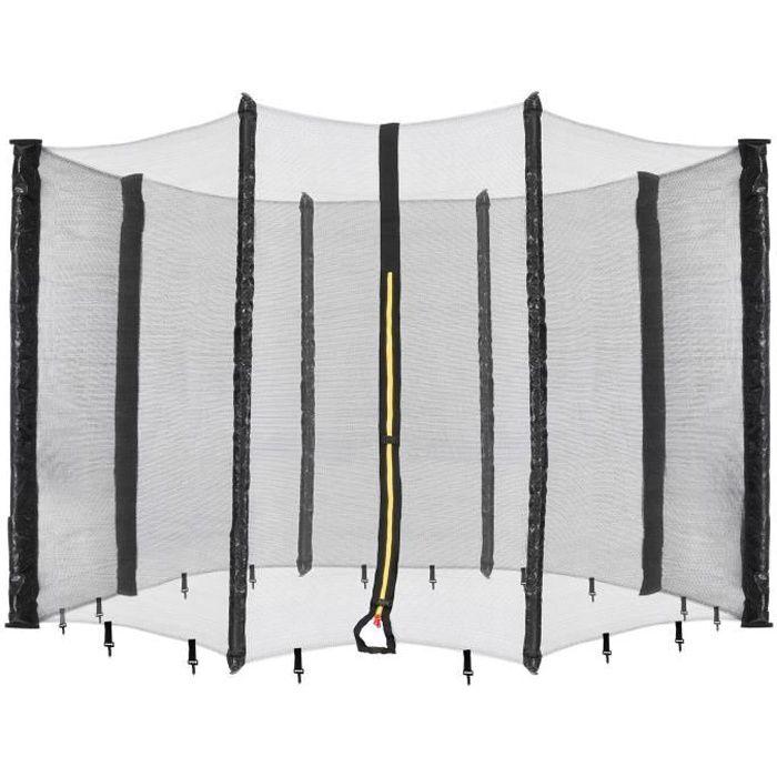 AREBOS Filet de sécurité pour trampoline 8 poteaux 490 cm