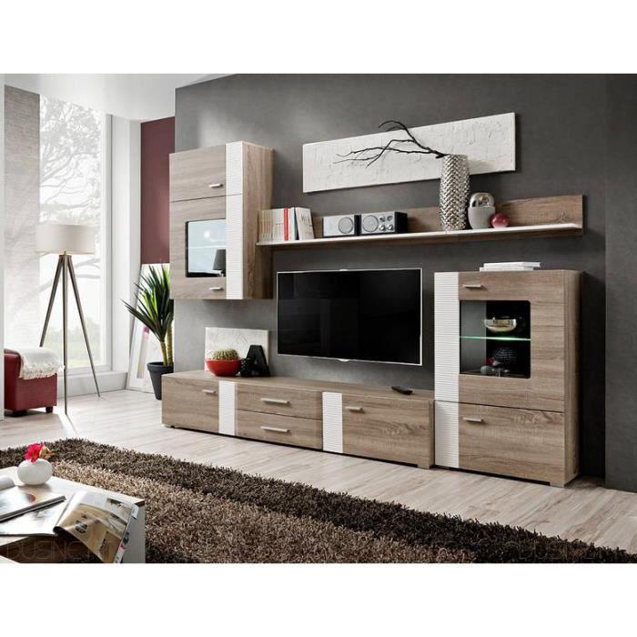 Ensemble TV Aleppo fashion 4 meubles scandinave