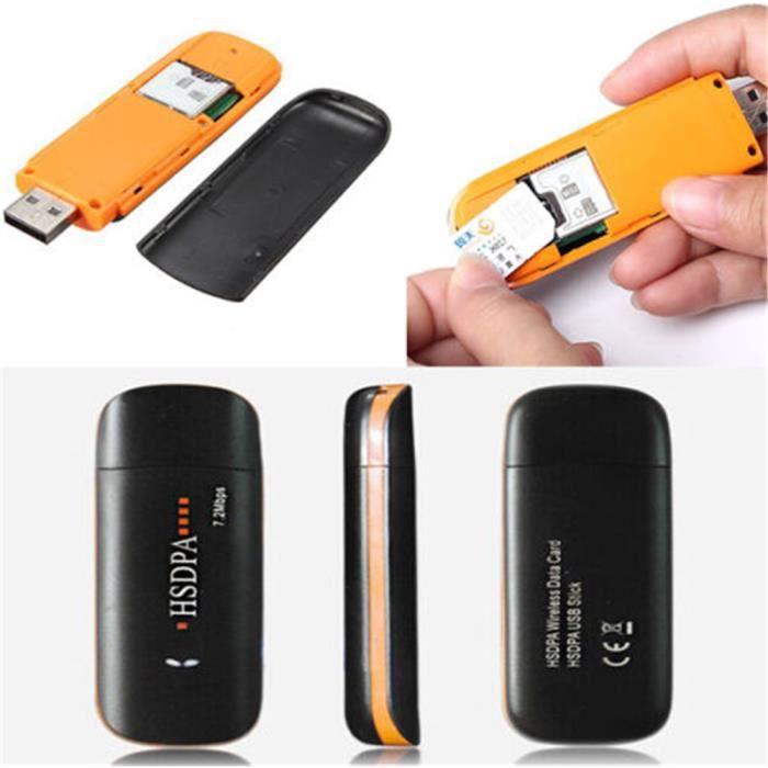 HSDPA haute vitesse USB 2.0 Adaptateur de modem SIM réseau 3G soutien de Dongle Win XP 7 8