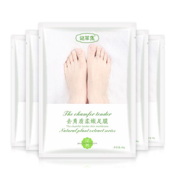 Chaud enlever le masque de pied de peau morte Peeling cuticules talon pieds soins Anti-âge LZJ71101223