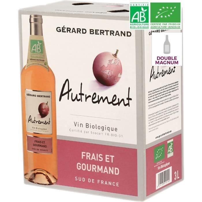 BIB 3L Gérard Bertrand Autrement Rosé VIN DE France - Vin rosé de France - Bio