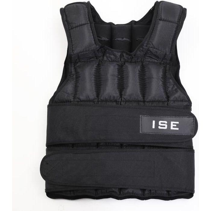 ISE Gilet lesté réglable de 25kg Poids gilets pour Poids Entrainement Musculation Exercice SY-3002-5