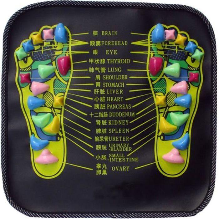 Coussin de Massage des pieds tapis de réflexologie douleur marche pierre soulager tapis randonnée co - Modèle: Black - HSJSZHA10554
