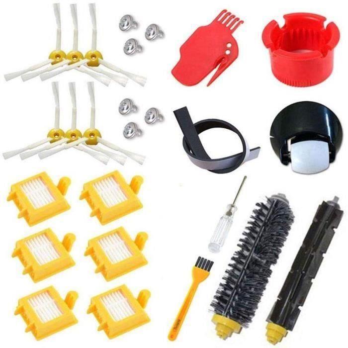 Kit de filtres Hepa pour roue roulante pour iRobot Roomba série 700 760 770 780 790, brosse à poils, brosses de batteur flexibles