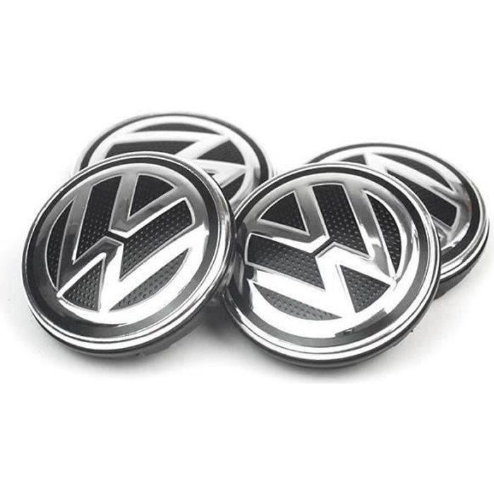 4 x 56mm VW Logo Jante Cache Moyeu Centre De Roue Piqûres Emblème Pour Volkswagen#6C0 601 171