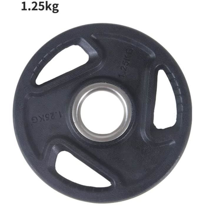 Halteres LIULU Disques d&rsquohalt&eacuterophilie Olympique en Fonte Couvert Plaque en Caoutchouc Poids de Musculation for Oly1238