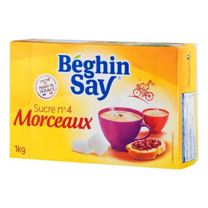 Béghin Say Sucre n°4 Morceaux 1Kg (lot de 6)