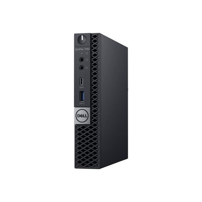 Dell Optiplex 7060 Micro 1 x Core i5 8500T 2.1 Ghz Ram 8 Go Ssd 128 Go Uhd Graphics 630 Gige, 802.11ac Wave 2, Bluetooth 5.0...