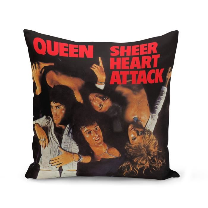 Housse de Coussin 40x40 cm Queen Freddy Mercury Sheer Hear Attack Cover Rock 80's