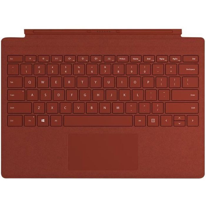 Clavier Microsoft Signature Type Cover pour Surface Pro – Rouge Coquelicot
