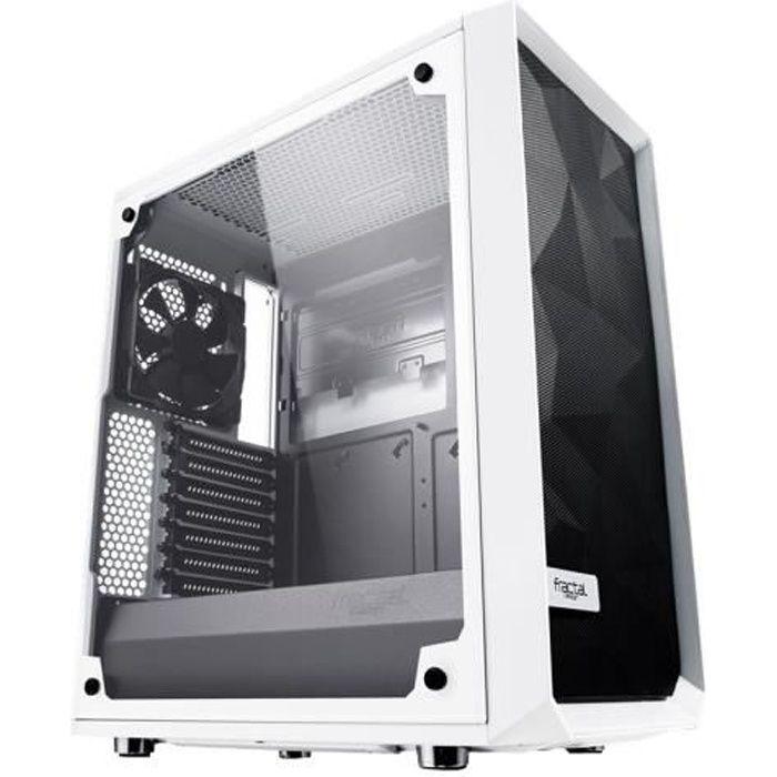 FRACTAL DESIGN BOITIER PC Meshify C - Blanc - Verre trempé - Format ATX (FD-CA-MESH-C-WT-TGC)