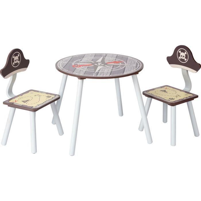 ib style® PIRATE Ensemble table et chaise enfant