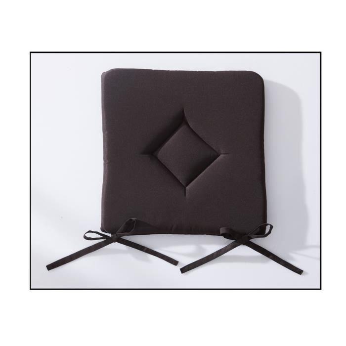 Galette de chaise 40x40 cm cacao