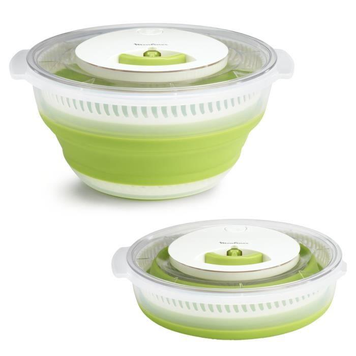 MOULINEX K2530104 Essoreuse à salade rétractable 4L