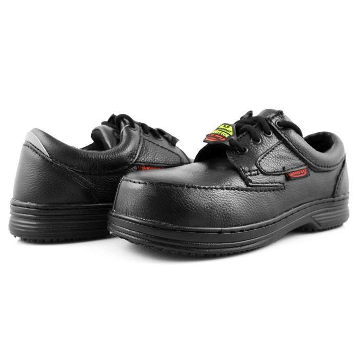 Chaussures De Running US914 Gerry 400 Sécurité Composite Slip Toe Chaussures en cuir résistant Taille-42