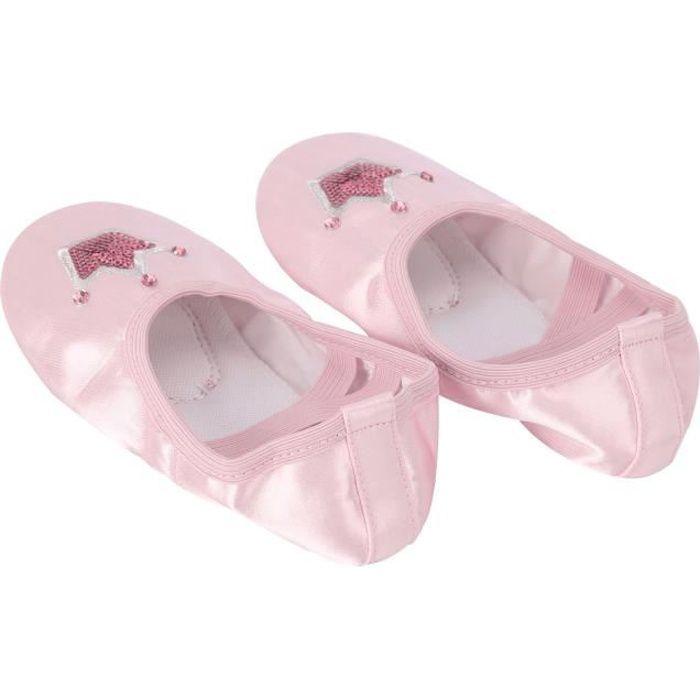 YEAHDOR Chaussures de Danse Fille Enfants Chaussures Ballet Classique Pilates Gymnastique Chaussons