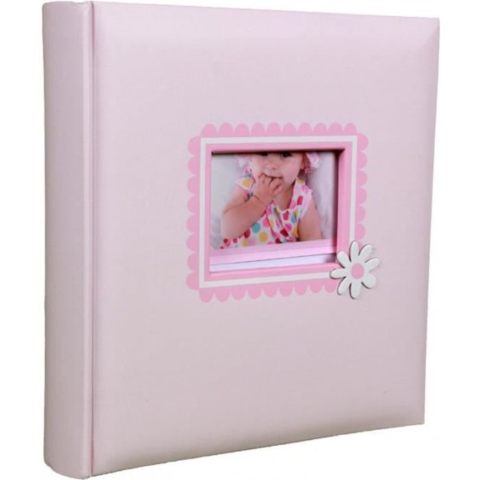 album bébé ana 200 pochettes 10x15 - Rose 10x15 cm