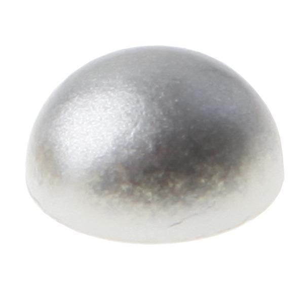 60 perles autocollantes argent