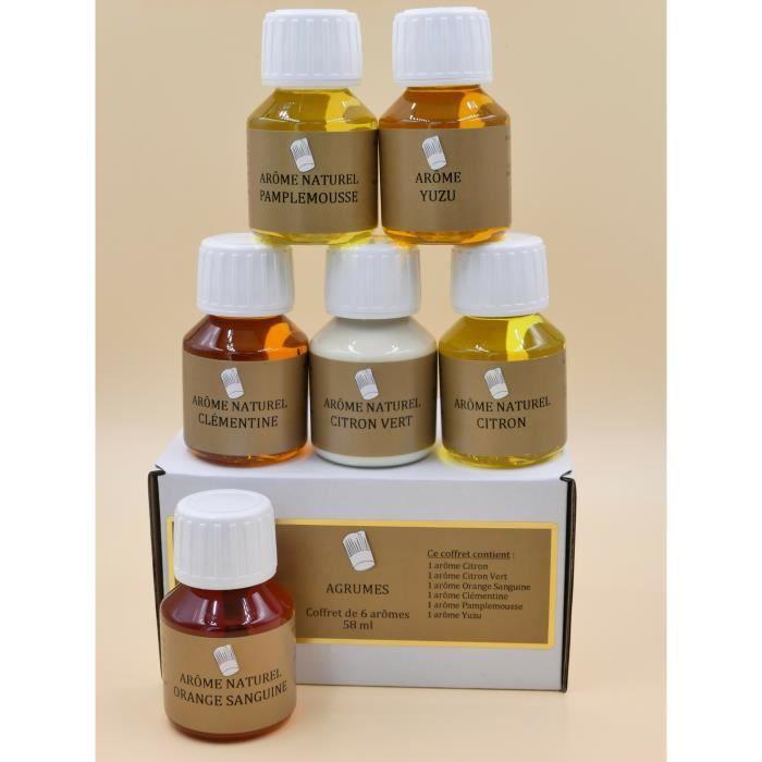 Coffret 6 Arômes Alimentaires 58ml AGRUMES