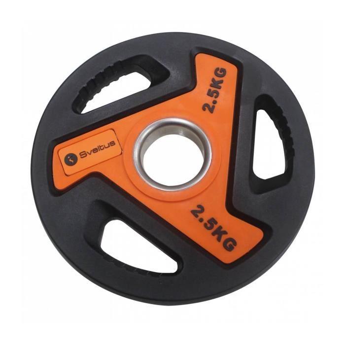 Disque olympique Sveltus 2.5kg - noir/orange - TU