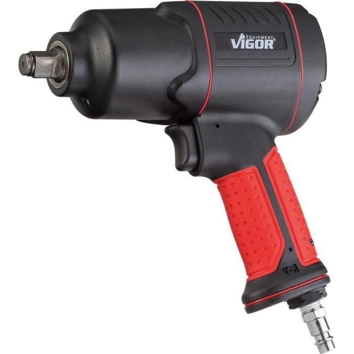 Clé à choc pneumatique Vigor V4800 Logement d'outil: carré 1-2- (12,5 mm) Couple (max.): 610 Nm 1 pc(s)