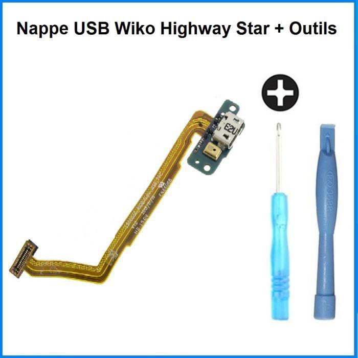 Nappe Connecteur de Charge USB Wiko Highway Star - 100% ORIGINAL + Outils