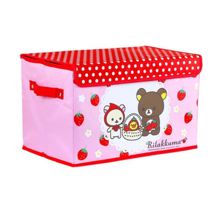 pliables jouets bo te de rangement fraise cartoon baby. Black Bedroom Furniture Sets. Home Design Ideas