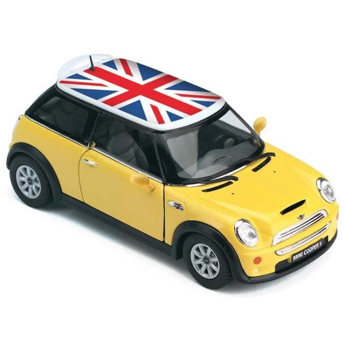 mini cooper s jaune 1 28 m tal friction 1535 achat. Black Bedroom Furniture Sets. Home Design Ideas