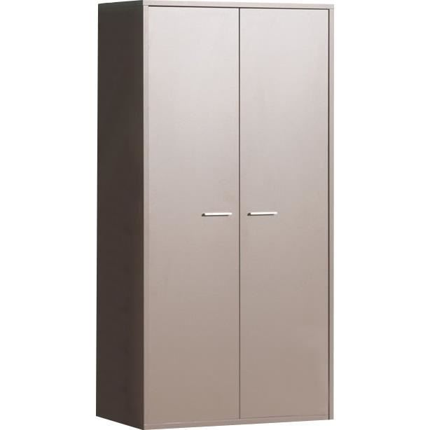 armoire 2 portes moderne gris basalte pour enfant achat. Black Bedroom Furniture Sets. Home Design Ideas