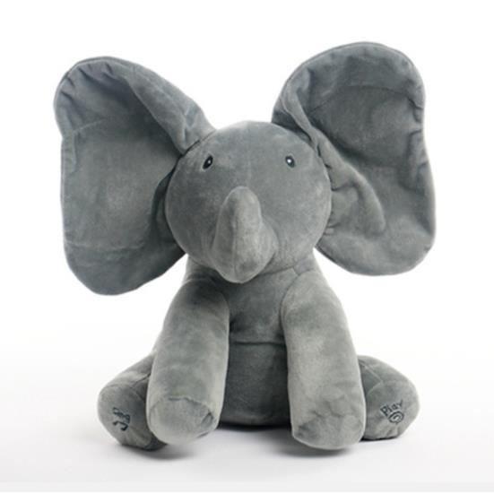 POUPÉE Peek-a-boo l'éléphant  chantant en peluche  musica