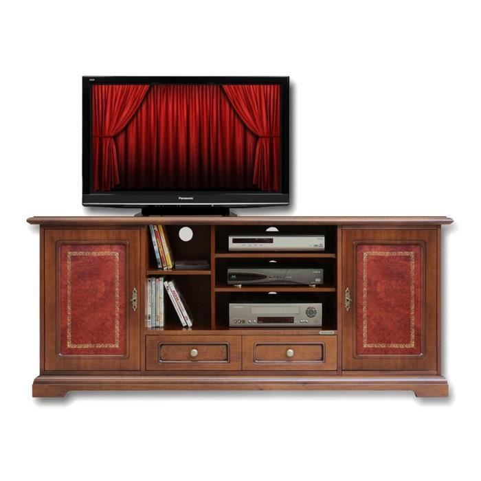meuble tv home cin ma en v ritable cuir achat vente. Black Bedroom Furniture Sets. Home Design Ideas