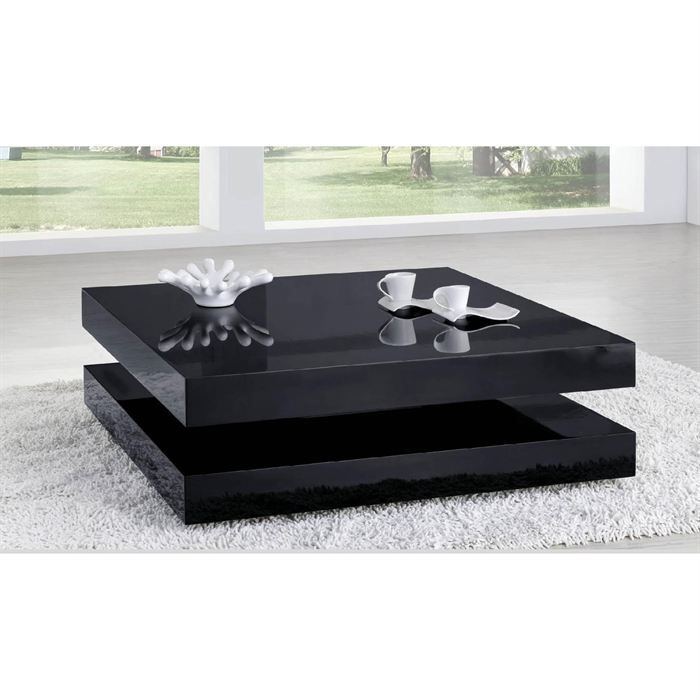 table basse laqu e noir charlene achat vente table basse table basse laqu e noir cdiscount. Black Bedroom Furniture Sets. Home Design Ideas