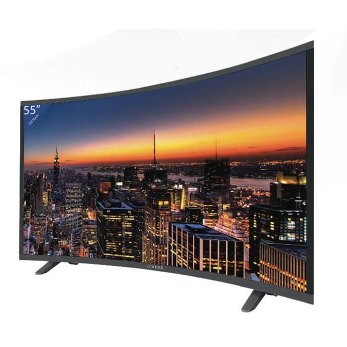 tv led hd 140cm 55 incurv e icarus le cin ma dans. Black Bedroom Furniture Sets. Home Design Ideas