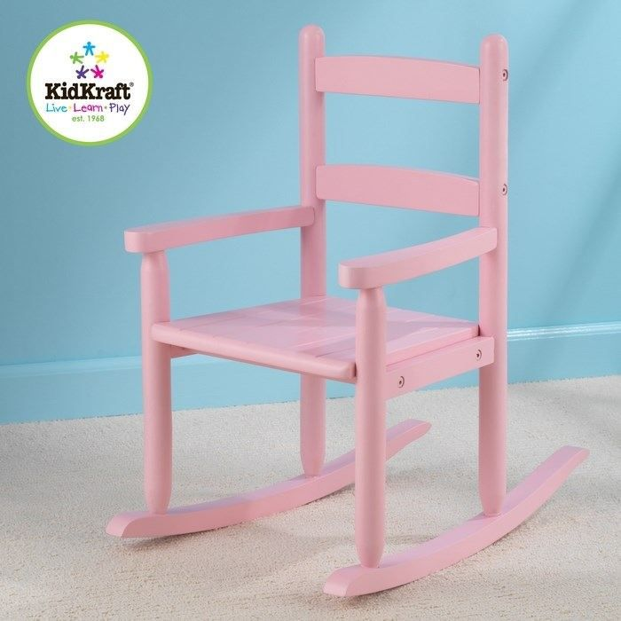 Kidkraft chaise bascule rose en bois construction for Chaise a bascule enfant