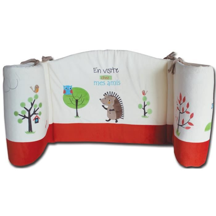 Tour de lit h risson les chatounets achat vente tour for Lit 60x120 ou 70x140