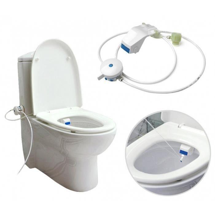 Bidet Abattant de WC non /électrique avec douchette et double buse pour intimit/é
