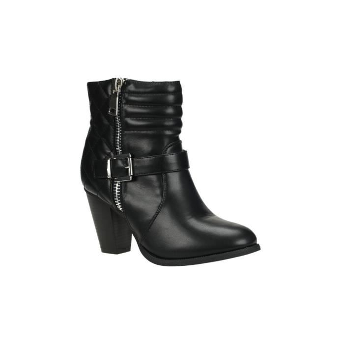 Bottines à talon noir
