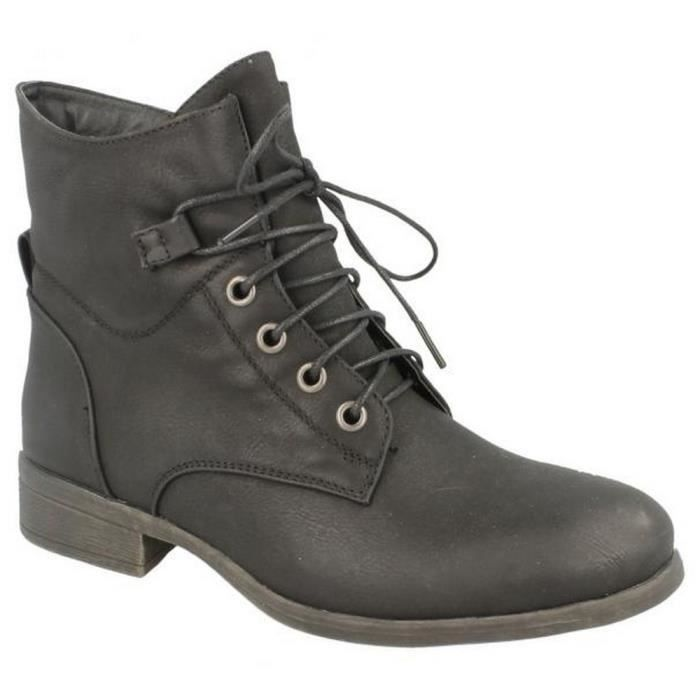 Spot On - Bottines style militaire - Femme