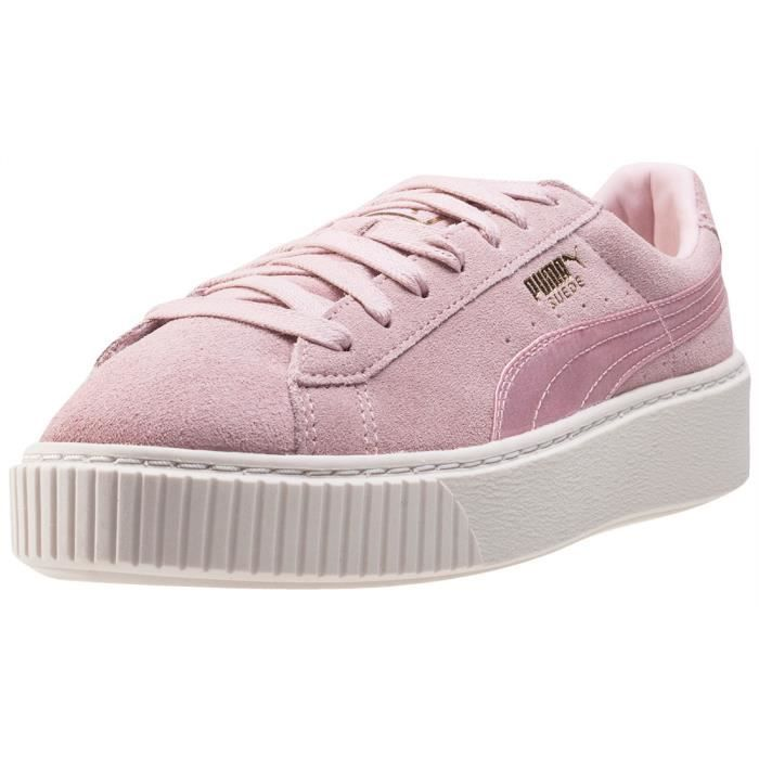buy popular 77fb4 58c98 Puma Suede Platform Satin Femmes Baskets Blush Pink - 4 UK