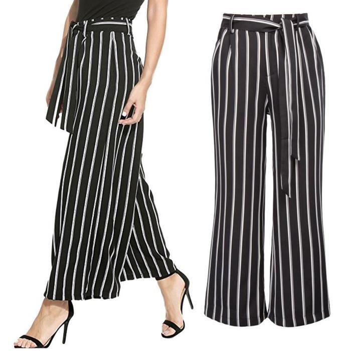 pantalon femme rayé