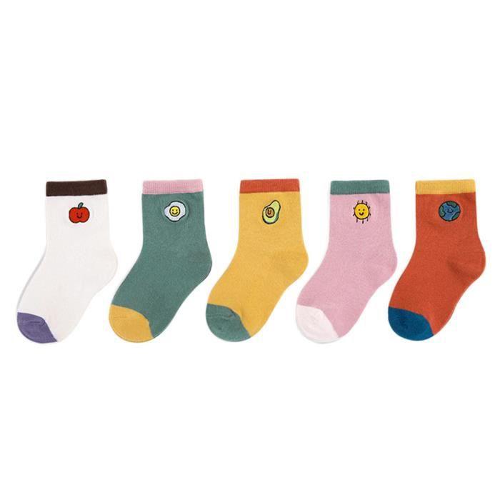 Enfants Filles assorties Jacquard à Motifs Coton Chaud Chaussettes Thermiques Lot Taille UK 4-6