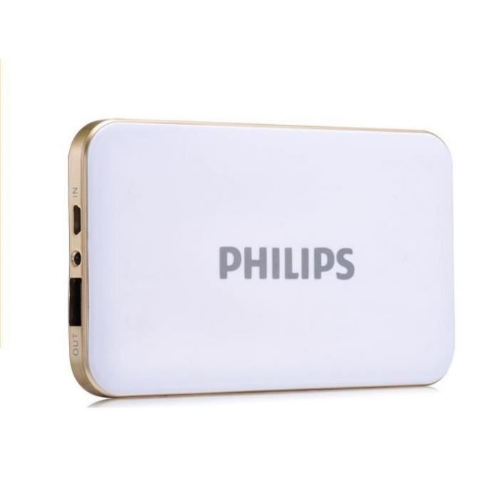 philips 40000mah power bank batterie externe de secours 2 usb port 5 v 2 1a chargeur pour. Black Bedroom Furniture Sets. Home Design Ideas