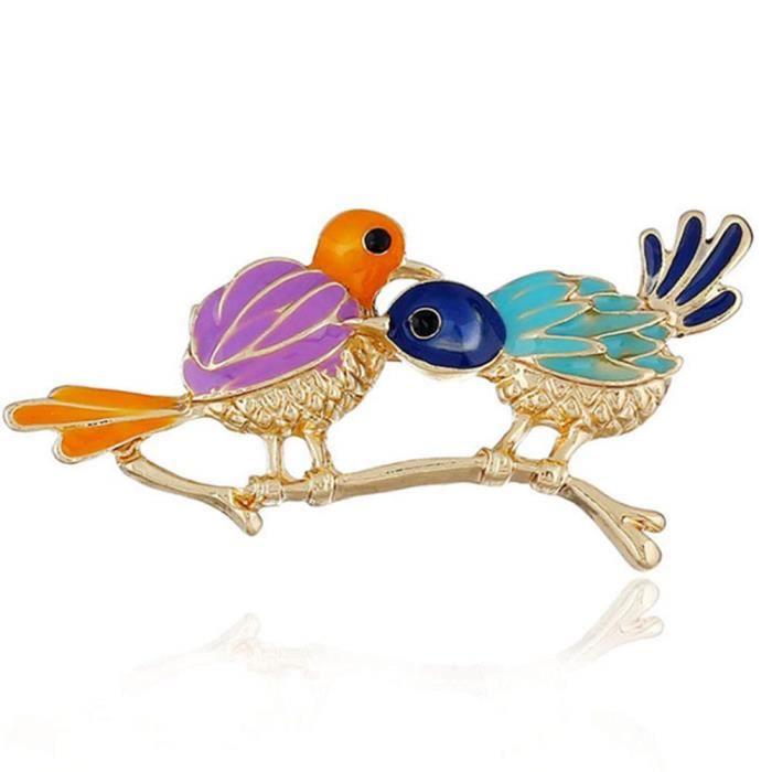 Broche Vintage Émail Animal Oiseau Belle Moineau Broach Pin Bridal Jewelry