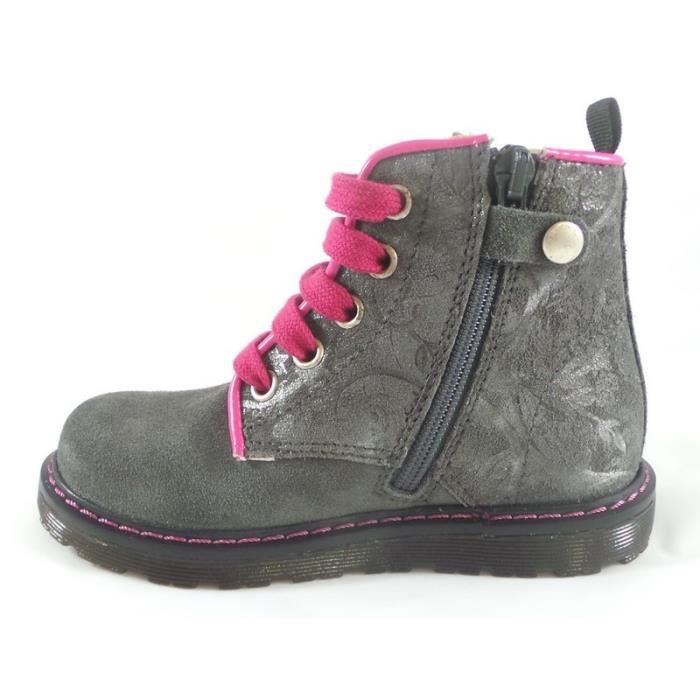 Naturino Bottines Fille Doc Anthracite (31 - Médium - gris)