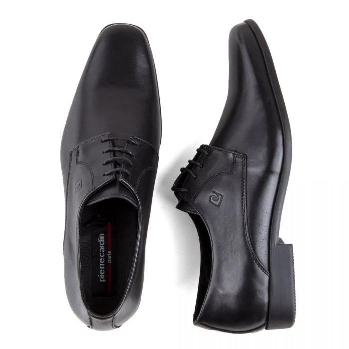 Chaussures derbies noires cuir Futur Homme PIERRE CARDIN