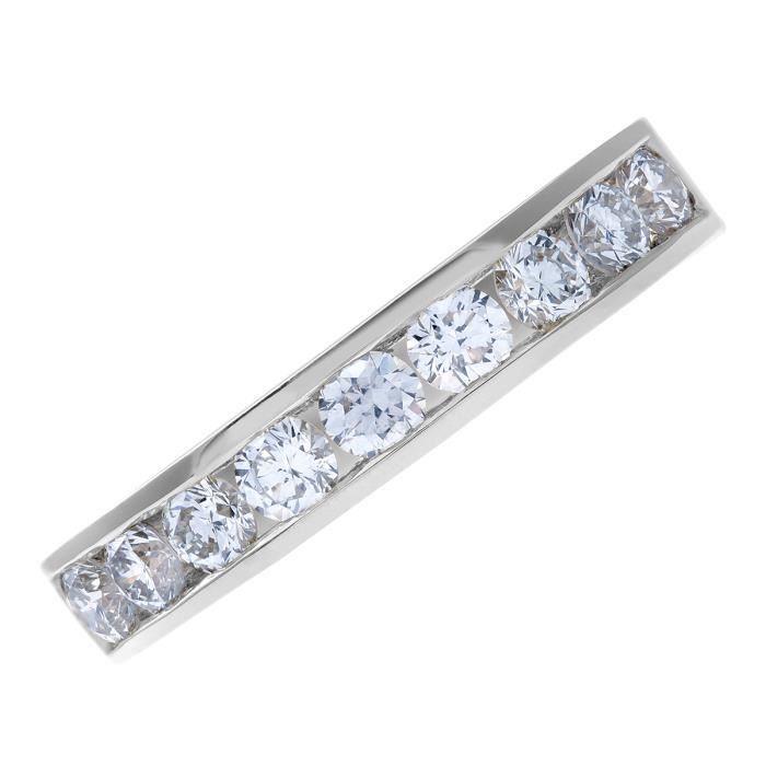 Revoni Bague alliance Diamant Or Blanc 750° Femme: Poids du diamant : 0.75 ct - CD-PR03634W18JPK-O