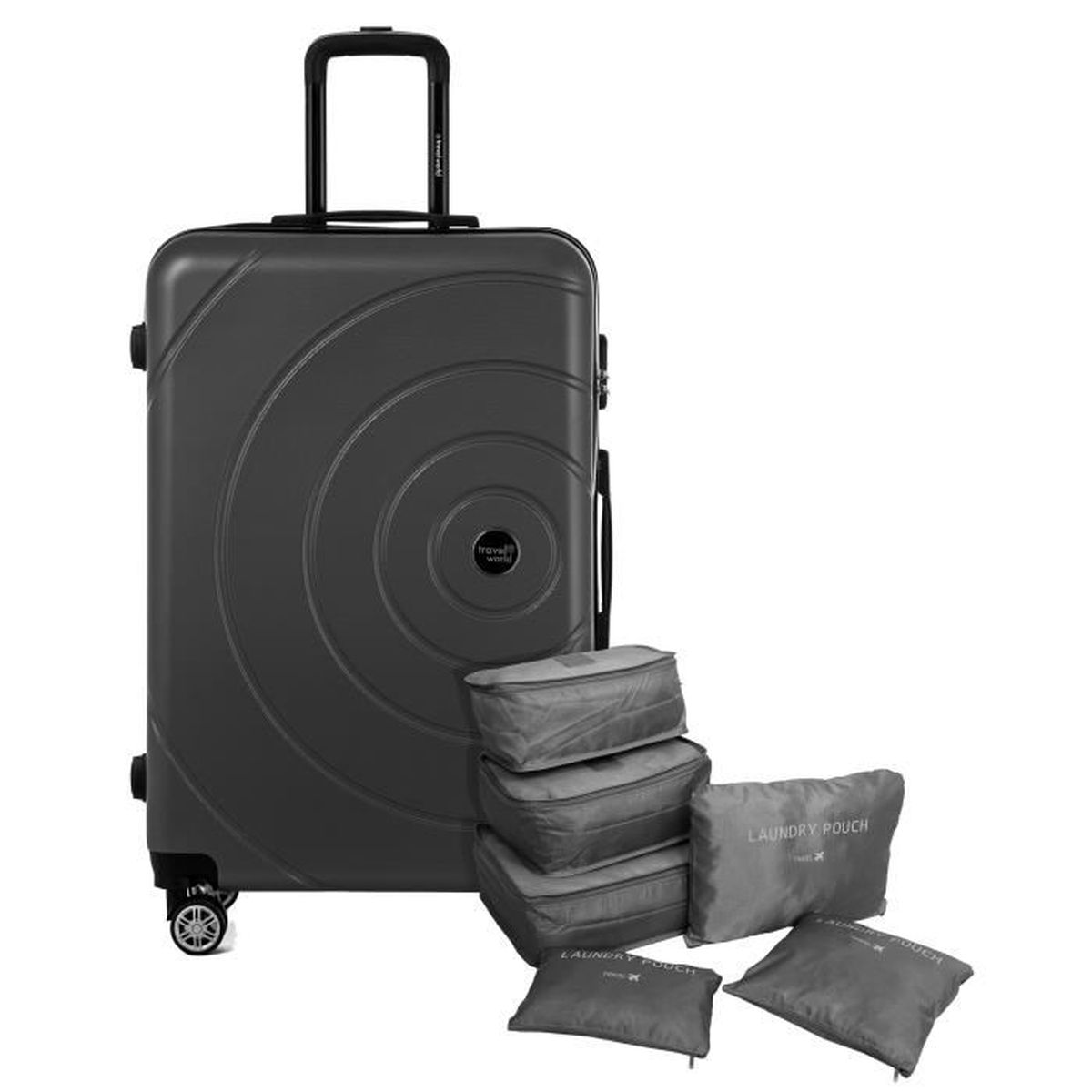 VALISE - BAGAGE TRAVEL WORLD Valise 70 Cm + Set de 6 Organisateurs