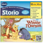 JEU CONSOLE ÉDUCATIVE VTECH Jeu Educatif Storio Winnie l'Ourson