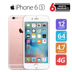 SMARTPHONE Apple iPhone 6S Or 64 Rose Or Débloqué Smartphone